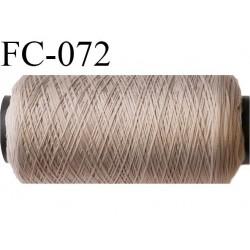 bobine de fil mousse polyamide n°100 couleur marron clair longueur 500 mètres largeur bobine 5.5 cm fabriqué en France