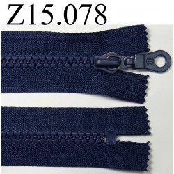 fermeture éclair longueur 15 cm couleur bleu foncé non séparable zip nylon largeur 3.3 cm largeur du zip 5 mm