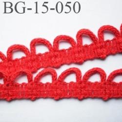 galon coton boutonnière 15 mm  couleur rouge largeur 15 mm  prix au mètre