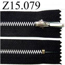 fermeture longueur 15 cm couleur noir non séparable zip métal largeur 2,5 cm