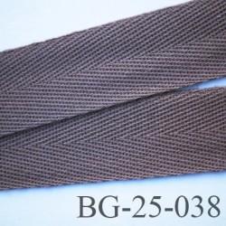 biais galon ruban sergé 25 mm couleur gris taupe 100%  coton souple et doux largeur 25 mm
