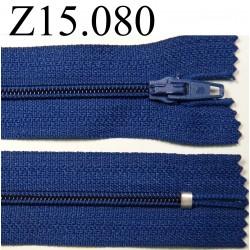 fermeture longueur 15 cm couleur bleu non séparable zip nylon largeur 2,5 cm