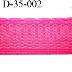 dentelle élastique biais galon ruban couleur rose fushia largeur 35 mm vendue au mètre