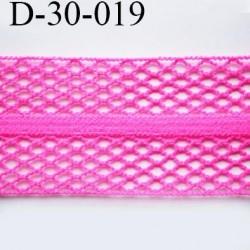 Dentelle résille 30 mm couleur rose fushia fluo lycra extensible largeur 30 mm prix au mètre
