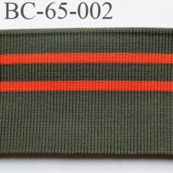 Bord-Côte 65 mm bord cote jersey synthétique largeur 65 mm longeur 1.25 mètre couleur  vert  kaki orange prix a la pièce