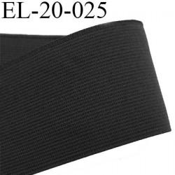 Elastique 20 mm plat très très  belle qualité couleur noir brillant  forte élasticité style brodé largeur 20 mm prix au mètre