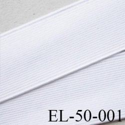 élastique plat très belle qualité couleur blanc largeur 50 mm vendue au mètre