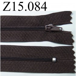 fermeture longueur 15 cm couleur marron  non séparable zip nylon largeur 2,5 cm