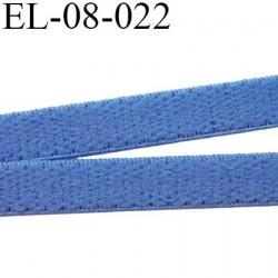 élastique 8 mm bretelle et lingerie doux plat  largeur 8 mm couleur bleu haut de gamme prix au mètre