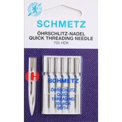 Aiguille schmetz ohrschlitz quick theading  705 HDK 90 14 boite de 5 aiguilles