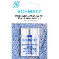 Aiguille schmetz Zwillingsnadel Jeans Twin Needle 130 705 H J ZWI  4.0 100