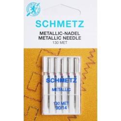 Aiguille schmetz Metallic 130 Met 90 14 la boite de 5 aiguilles