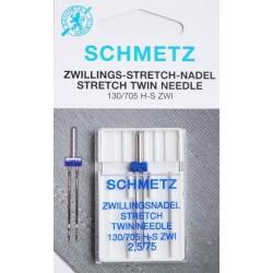 Aiguille schmetz Zwillingsnadel Jeans Twin Needle 130 705 H J ZWI  2.5 75