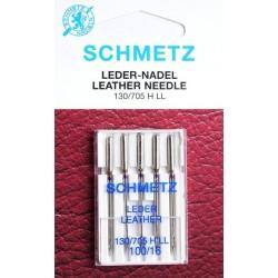 Aiguille schmetz LEDER LEATHER CUIR 130 705 H-LL 100 16 la boite de 5 aiguilles