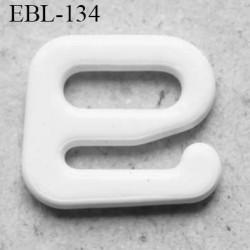 Crochet métal 6 mm  plastifié couleur blanc largeur intérieur de passage de bretelle 6 mm haut de gamme prix à la pièce