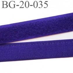 Scratch type velcro 20 mm à coudre couleur violet les 2 faces largeur 20 mm  prix au mètre
