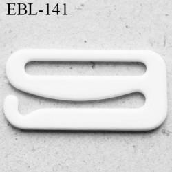 Crochet métal 19 mm plastifié couleur blanc brillant largeur intérieur de passage de bretelle 19 mm haut de gamme prix / pièce
