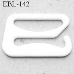 Crochet métal 16 mm plastifié couleur blanc brillant largeur intérieur de passage de bretelle 16 mm haut de gamme prix / pièce