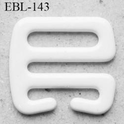 Crochet métal 10 mm plastifié couleur blanc brillant largeur intérieur de passage de bretelle 10 mm haut de gamme prix / pièce