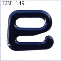 Crochet métal 6 mm  plastifié couleur noir brillant largeur intérieur de passage de bretelle 6 mm haut de gamme prix à la pièce