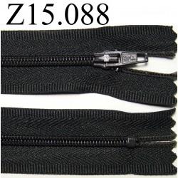fermeture longueur 15 cm couleur  anthracite   non séparable zip nylon largeur 2,5 cm