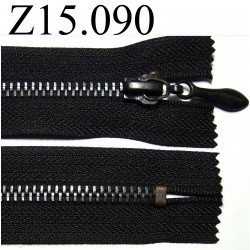 fermeture longueur 15 cm couleur  noir   non séparable zip métal largeur 3,2 cm largeur du zip 5.5 mm