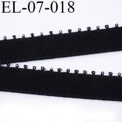 élastique  7 mm bretelle lingerie et culotte picot plat  couleur noir  doux largeur 7 mm prix au mètre