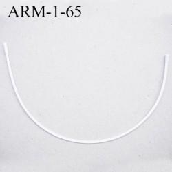 Armature 65  acier laqué blanc  longueur total développé de l'armature 145 mm forme n° 1 prix à la pièce