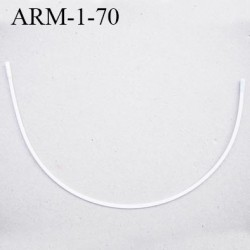 Armature 70  acier laqué blanc  longueur total développé de l'armature 160 mm forme n° 1 prix à la pièce