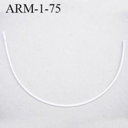 Armature 75  acier laqué blanc  longueur total développé de l'armature 175 mm forme n° 1 prix à la pièce