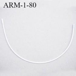 Armature 80  acier laqué blanc  longueur total développé de l'armature 190 mm forme n° 1 prix à la pièce