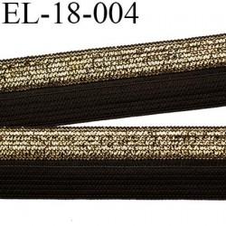 élastique 18 mm pré plié couleur noir et or ou doré  largeur 18 mm très joli prix au mètre