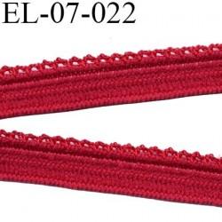 Elastique 7 mm culotte et lingerie picot couleur rouge diorine superbe  haut de gamme largeur 7 mm prix au mètre