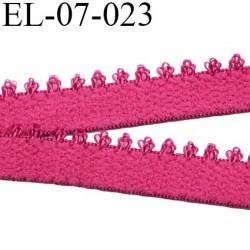 élastique 7 mm lingerie picot couleur fushia ou rose indien largeur 7 mm prix au mètre