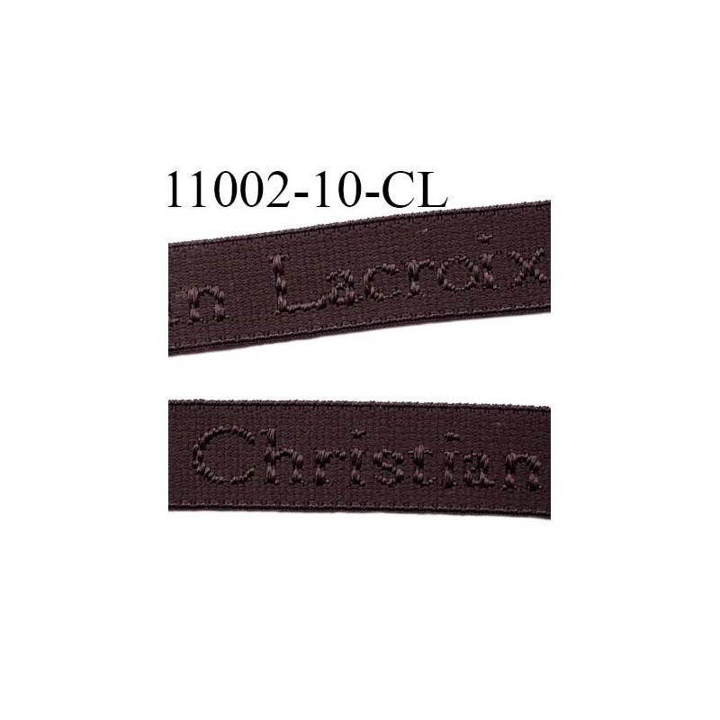 lastique de marque christian lacroix inscription en surpiquage couleur marron chocolat largeur. Black Bedroom Furniture Sets. Home Design Ideas