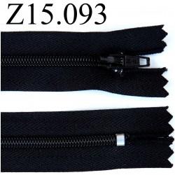 fermeture longueur 15 cm couleur  noir  non séparable zip nylon largeur 2.4 cm