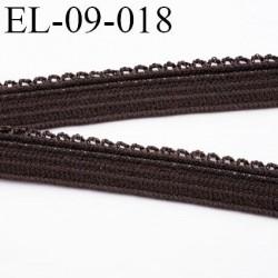 élastique 9 mm culotte ou  lingerie couleur marron foncé ou chocolat  largeur 9 mm haut de gamme prix au mètre