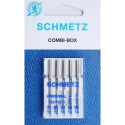 Aiguille Schmetz Universal 130/705 H combi box de 70 10 a 90 14  la boite de 5 aiguilles