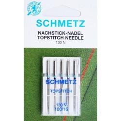 Aiguille Schmetz Topstitch 130 N 100 16  la boite de 5 aiguilles