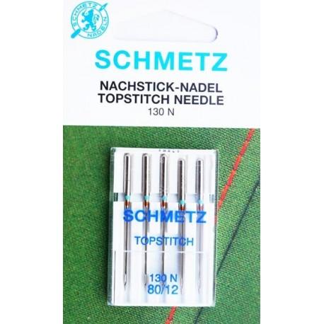 Aiguille Schmetz Topstitch 130 N 80 12  la boite de 5 aiguilles