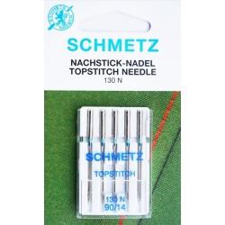 Aiguille Schmetz Topstitch 130 N 90 14  la boite de 5 aiguilles
