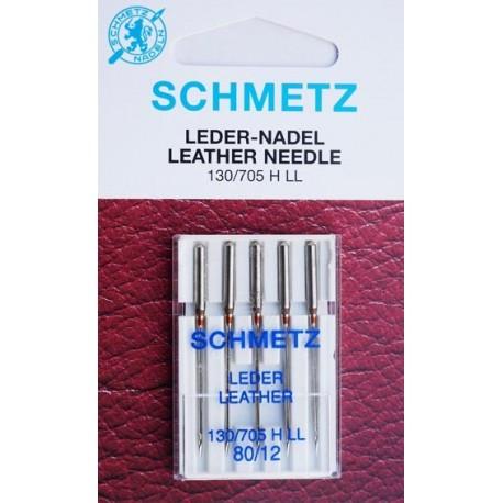 Aiguille schmetz LEDER LEATHER CUIR 130 705 H-LL 80/12 la boite de 5 aiguilles