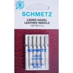 Aiguille schmetz LEDER LEATHER CUIR 130 705 H-LL 90/14 la boite de 5 aiguilles