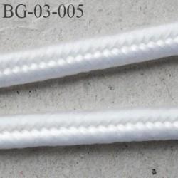 galon 3 mm soutache ruban  cordon  couleur blanc brillant largeur 3 mm épaisseur 1.5 mm très très solide