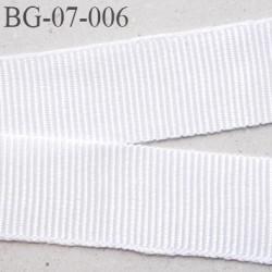 galon 7 mm ruban gros grain  couleur blanc brillant très très solide et souple synthétique largeur 7 mm prix au mètre