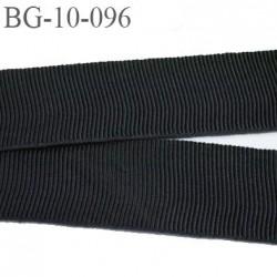 galon 10 mm ruban gros grain  couleur noir brillant très très solide et souple  en coton largeur 10 mm prix au mètre