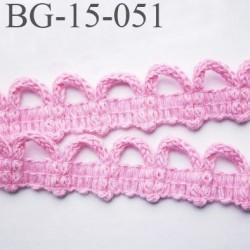galon coton boutonnière 15 mm  couleur rose largeur 15 mm  prix au mètre