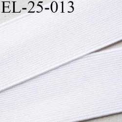 Elastique 25 mm plat très très  belle qualité couleur blanc brillant  forte élasticité style brodé largeur 25 mm prix au mètre