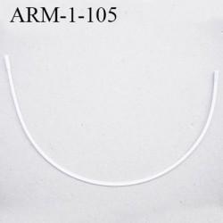 Armature 105 acier laqué blanc  longueur total développé de l'armature 265 mm forme n° 1 prix à la pièce