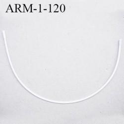 Armature 120 acier laqué blanc  longueur total développé de l'armature 310 mm forme n° 1 prix à la pièce
